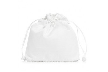Unique Satin With Imitation Pearl Bridal Purse (012003826)