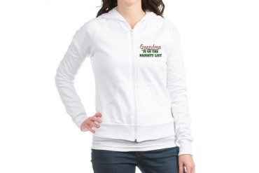 Grandma is on the Naughty List Cute Jr. Hoodie by CafePress