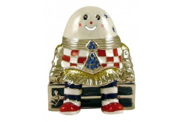 Pewter Humpty Dumpty Egg Nursery Rhyme Trinket Box