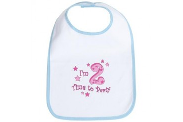 Second / 2nd birthday toddler girl pink Cute Bib by CafePress