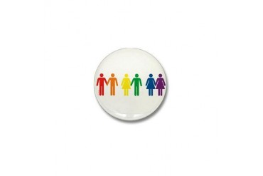 Love is Love Gay pride Mini Button by CafePress