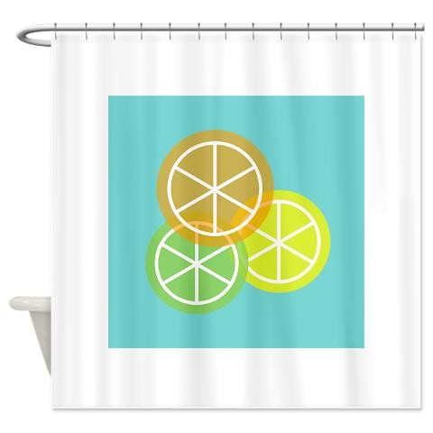 Fruta Naranja Lima Limon Spanish Shower Curtain By CafePress