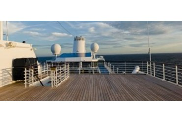 Cruise ship deck, Bruges, West Flanders, Belgium Print by Panoramic Images