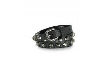 Jessy Boulons - Black Leather Studded Belt