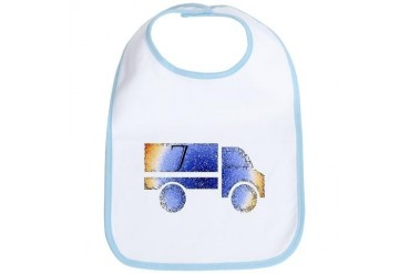 Baby is Seventh - 7 Month? or 7 Year? Truck Bib by CafePress