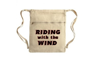 ridingwind.png Sack Pack Sports Cinch Sack by CafePress