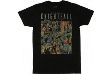 DC Comics Batman Knightfall Bane Fight Panels T-Shirt Sheer