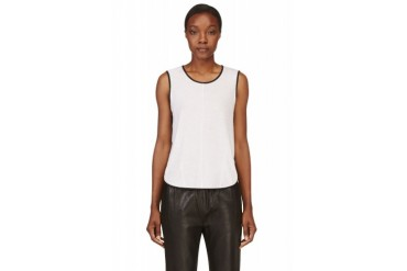 Rag And Bone White Rose Tank Top