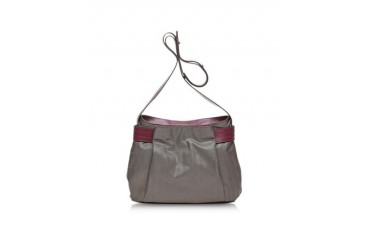 Corine Canvas and Leather Shoulder Bag