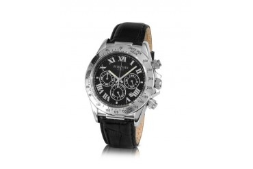 Rivoli - Men's Stainless Steel and Leather Chrono Watch