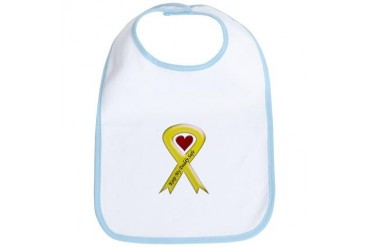 Keep My Daddy Safe Yellow Ribbon Military Bib by CafePress