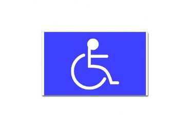 Disabled Rectangle Sticker Health Sticker Rectangle by CafePress