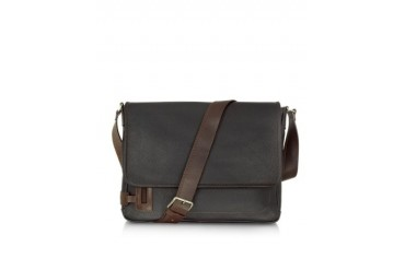 Black Leather Messenger Bag