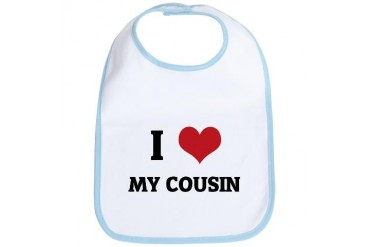I Love My Cousin Family Bib by CafePress