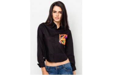 Pestle & Mortar Heliconia Ladies Cropped Shirt