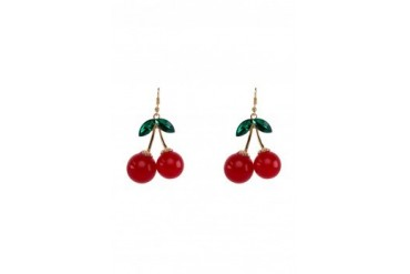 Saturation Cherry Berry Drop Earrings