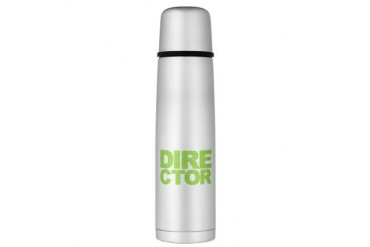 Director Word Cloud Large Thermos Bottle Movie Large Thermosreg; Bottle by CafePress