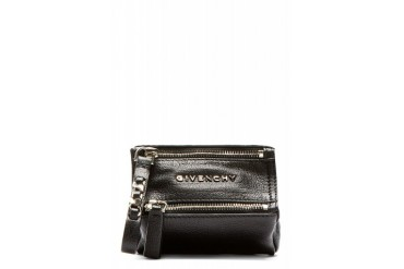 Givenchy Black Sugar Leather Pandora Coin Key Purse