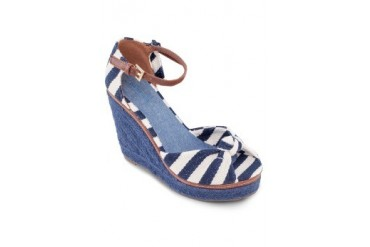 Parfois Stripes Wedges with Ankle Strap