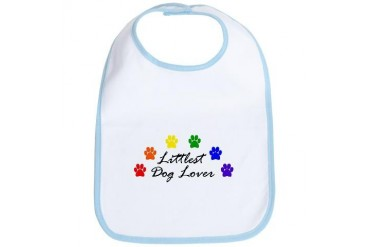 Littlest Dog Lover Baby Bib by CafePress