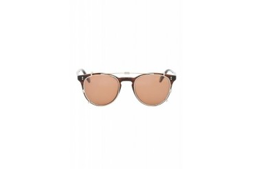 Garrett Leight Silver And Brown Milwood Clip Sunglasses
