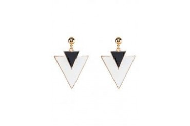 Fox's Accessories Triangle Charm Stud Earring