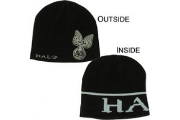 Halo UNSC Emblem Reversible Embroidered Printed Beanie