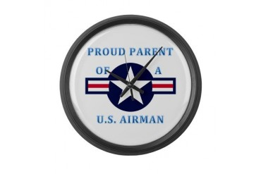 Air Force Parent Air force Large Wall Clock by CafePress