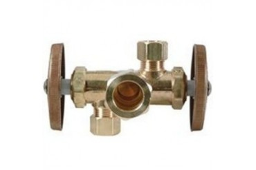 Brass Craft Cr1901Dvx R Dual Outlet Shut-Off Valve