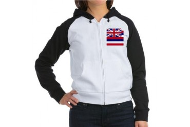 Hawaii Flag Flag Women's Raglan Hoodie by CafePress