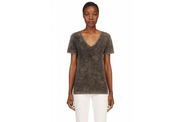 Rag And Bone Black Faded The Jackson V T shirt