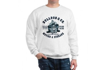 BULLDOG CO. Ash Grey Bulldog Sweatshirt by CafePress