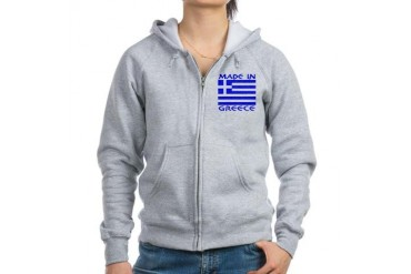 madeingreeceSHIRTCENTER.png Flag Women's Zip Hoodie by CafePress