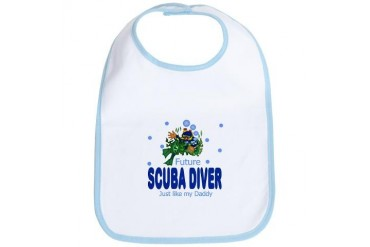 Future Scuba Diver like Daddy Baby Infant Bib