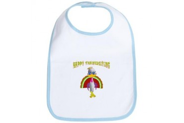 Thanksgiving, Turkey Girl Cute Bib by CafePress