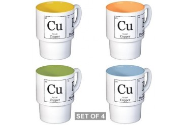 CuP Chemical Elements Geek Stackable Mug Set 4 mugs by CafePress