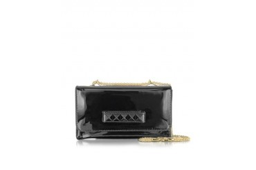 Va Va Voom Black Patent Leather Shoulder Bag