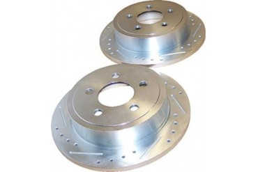 Crown Automotive Drilled and Slotted Rotor Set 52128411DS Disc Brake Rotors
