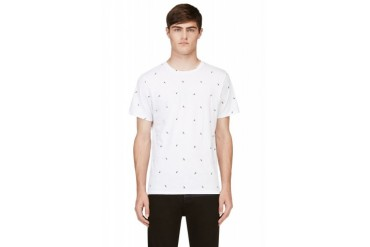 Rag And Bone White Short Sleeve Toucan Print T shirt