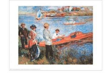 Oarsmen At Chateau Poster Print by Pierre-Auguste Renoir (30 x 24)