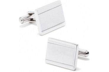 Stainless Steel Engravable Frame Cufflinks