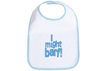 I Might Barf Blue Funny Bib by CafePress