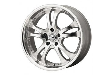 American Racing Wheels AR383 Casino, 16x7 with 5 on 100 Bolt Pattern - Silver with Machined Face and Lip AR3836780 Wheels