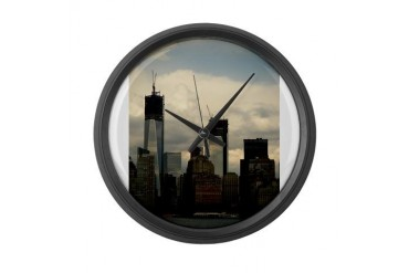 World Trade Center, New York New york Large Wall Clock by CafePress