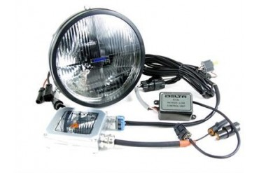 "Delta Industries Delta 1198 Series 7"" Quad-Bar Hi/Lo Beam HID System w/City Light JK 01-1198-HID2 Headlight Replacement"