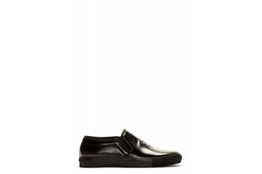 Alexander Mcqueen Black Embossed Skull Slip on Shoes