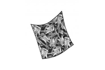 Musical Instruments Print Silk Square Scarf