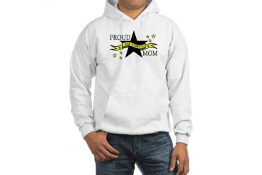 Proud Air Force Mom with Hero Poem Hooded Sweatshi Military Hooded Sweatshirt by CafePress