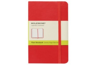 Classic Hard Plain Notebook Red Pocket