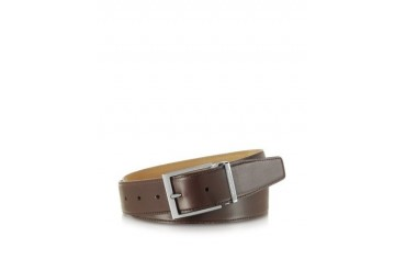 York Dark Brown Calf Leather Belt